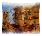 Pirate Ship Photo Art Tapestry