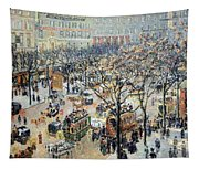 Pissarro's Boulevard Des Italiens In Morning Sunlight Tapestry