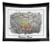 Pitcher Plant Illustration Tapestry
