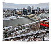 Pittsburgh Duquesne Incline Winter Tapestry