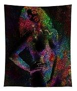 Pixel Girl Tapestry