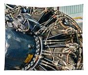 Plane Engine Close Up Tapestry