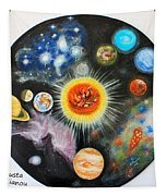 Planets And Nebulae In A Day Tapestry