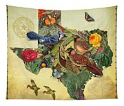 Nature Map Of Texas Tapestry