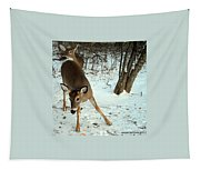 Playful In The Snow Tapestry
