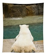 Playful Polar Bear Tapestry