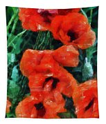 Playful Poppies 5 Tapestry