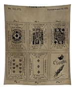 Playing Cards Patent Tapestry