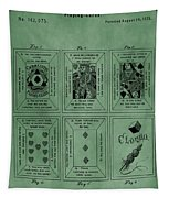 Playing Cards Patent Green Tapestry