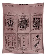 Playing Cards Patent Red Tapestry