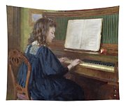 Playing The Piano Tapestry