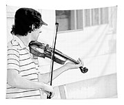 Playing Violin Tapestry