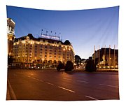 Plaza De Neptuno And Palace Hotel Tapestry