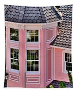 Beautiful Pink Turret - Boardwalk Plaza Hotel Annex - Rehoboth Beach Delaware Tapestry
