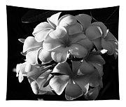 Plumeria Black White Tapestry