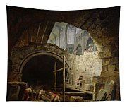 Plundering The Royal Vaults At St. Denis In October 1793 Oil On Canvas Tapestry