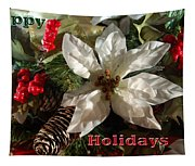Poinsetta Christmas Card Tapestry
