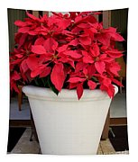 Poinsettias In A Planter Tapestry