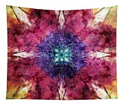 Pointed Star Flower Watercolor Tapestry