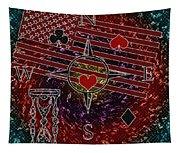 Poker Addiction Digital Painting Tapestry