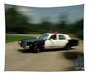 Police Car Tapestry