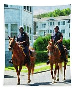 Police - Two Mounted Police Tapestry