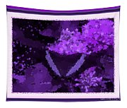 Polka Dot Butterfly Purple Tapestry