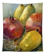 Pomegranates And Pears Tapestry