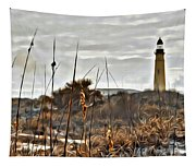 Ponce Inlet Lighthouse From The Dunes Tapestry