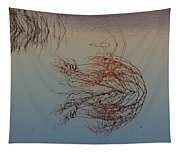 Pond Weed Reflections Tapestry