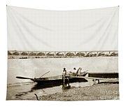 pont George V Bridge over Loire river Orleans Loire Valley France 1900 Tapestry