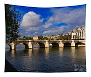 Pont Neuf Over The Seine River Paris Tapestry