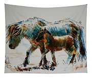 Pony And Foal Tapestry
