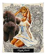Poodle Art - Una Parisienne Movie Poster Tapestry