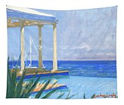 Pool Cabana Morning Tapestry