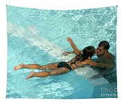 Pool Couple 9717b Tapestry