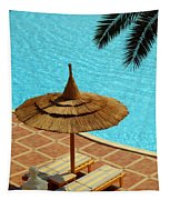 Poolside Relaxation Tapestry