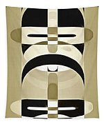 Pop Art People Totem 6 Tapestry