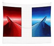 Red Blue Jet Pop Art Planes  Tapestry