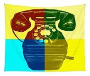 Pop Art Vintage Telephone 1 Tapestry