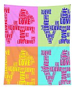 Pop Love Collage Tapestry