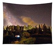 Pop Up Camper Under The Milky Way Sky Tapestry