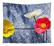 Poppies And Granite Tapestry