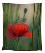 Poppy Abstract Tapestry