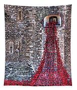 Poppy Cascade Tapestry