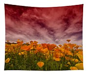 Poppy Fields Forever Tapestry