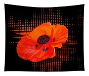 Poppy Passion Square Tapestry