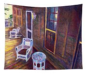 Porch In Golden Light Tapestry