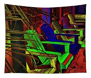 Neon Porch Perches Tapestry