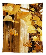 Porch Post Berries Glow Tapestry